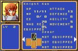 Shining Force: Resurrection of the Dark Dragon Game Boy Advance Ken's stats