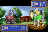 Shining Force: Resurrection of the Dark Dragon Game Boy Advance Mae attacks rune knight