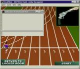 Bruce Jenner's World Class Decathlon Windows The 100m Dash. The Endurance window is how the player manages their energy during an event. It didn't work in this implementation.