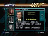 007: The World is Not Enough PlayStation Mission briefing.