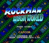 Mega Man: The Wily Wars Genesis Title screen (Japanese version)