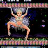 Parodius Sharp X68000 A giant Las Vegas showgirl is the mid-boss here
