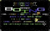 Boing Commodore 64 Title Screen.
