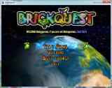 Brickquest Windows Title and menu (Windowed)