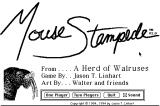 Mouse Stampede Macintosh Main menu