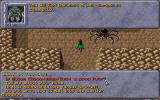 Dark Sun: Shattered Lands DOS Now you face the giant spider - and look, you don't have to fight! The game is very flexible and allows you to make choices at every corner