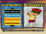 Rocket Power: Team Rocket Rescue PlayStation Character select screen.