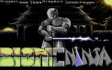 Bionic Ninja Commodore 64 Loading Screen.