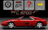 Hot Wheels Atari ST Title screen / menu