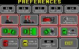 Hot Wheels Atari ST Option menu: selecting players, configuring the AI, collisions and colours