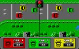 Hot Wheels Atari ST Two-player split screen game: the start