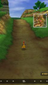 Dragon Quest VIII: Journey of the Cursed King iPhone Auto-run option. The player-character runs forward in the direction the camera is facing.