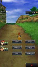 Dragon Quest VIII: Journey of the Cursed King iPhone Menu screen.