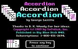 Accordion DOS Title screen (CGA mode)
