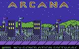 Arcana Commodore 64 Loading Screen.