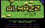 Almazz Commodore 64 Title Screen.
