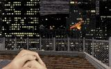 Duke Nukem 3D DOS The game starts right here. You are dropped on the roof, witnessing an aerial assault on the city