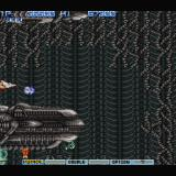 Gradius II Sharp X68000 Stage 2: Synthetic Life, featuring an H. R. Giger inspired layout