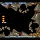 Gradius II Sharp X68000 Fifth boss: Big Moai, jeez... say it, don't spray it!