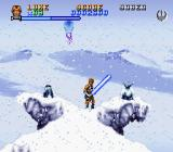 Super Star Wars: The Empire Strikes Back SNES The hostile environment in Hoth...