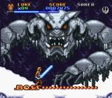 Super Star Wars: The Empire Strikes Back SNES Our first boss, the giant wampa