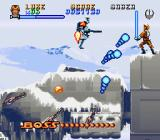 Super Star Wars: The Empire Strikes Back SNES The boss battle on top of the AT-AT