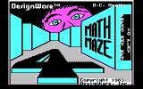 Math Maze PC Booter Main title screen, CGA