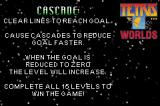 Tetris Worlds Game Boy Advance Cascade tetris' rules