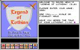 Legend of Lothian Amiga Title screen