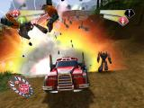 TransFormers PlayStation 2 Use vehicle mode to mow-down Decepticlone forces.