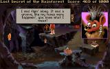 Lost Secret of the Rainforest DOS A hippie bat musician! Man, I love such characters in adventure games...