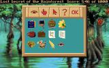 Lost Secret of the Rainforest DOS Displaying your inventory during the final quarter of the game