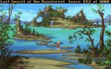 Lost Secret of the Rainforest DOS A magnificent view with islands - one of the game's final locations