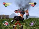 TransFormers PlayStation 2 Hot Shot battling a Heavy Unit.