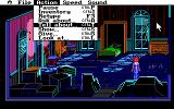 The Colonel's Bequest DOS Laura visits a seemingly abandoned room. Opening the actions menu - there are several convenient shortcuts
