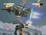 TransFormers PlayStation 2 Starscream taking flight during a battle with Hot Shot.