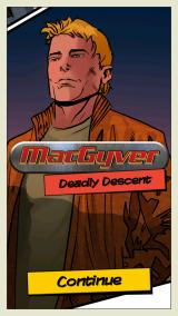 MacGyver: Deadly Descent iPhone Title screen