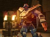 TransFormers PlayStation 2 Red Alert standing proud inside the Deep Amazon temple.
