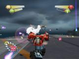 TransFormers PlayStation 2 Optimus on the deck of Tidal Wave.