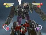 TransFormers PlayStation 2 The gigantic Tidal Wave towers over Optimus and fires mortars from his chest.