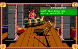 Conquests of Camelot: The Search for the Grail DOS A suspiciously homoerotic treasurer rebuffs your attempts at innocent expressions of affection! In other words, you try to kiss him, but he swears at you in a colorful way!