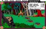 Conquests of Camelot: The Search for the Grail DOS Riding through an English forest. You see some corpses... you are so astonished that you open the menu!
