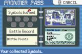 Pokémon Emerald Version Game Boy Advance Your Trainer Card gets modified in the post-game Battle Frontier area