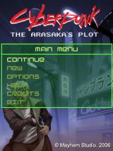 Cyberpunk: The Arasaka's Plot J2ME Main menu