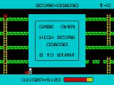 Panic ZX Spectrum Game over