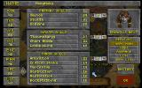 The Elder Scrolls: Chapter II - Daggerfall DOS Character creation. Note the detailed skill system