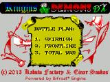 Knights & Demons DX ZX Spectrum Menu