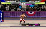 WWF WrestleMania Arcade Thrown to the floor.