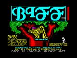Biff ZX Spectrum Loading screen