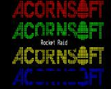 Rocket Raid BBC Micro Loading screen